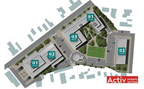 Cluj Business Campus închiriere birouri Cluj-Napoca zona de est plan