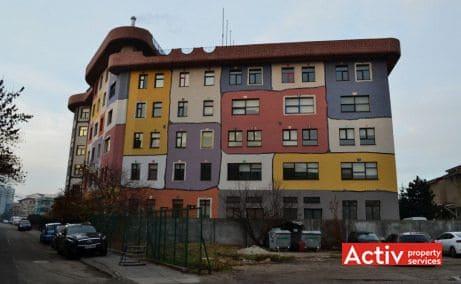 Hundertwasser House inchiriere spatii de birouri Bucuresti zona de nord poza laterala cladire