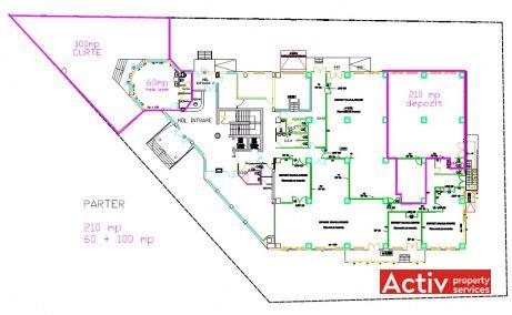 Hundertwasser House spatii de birouri de inchiriat Bucuresti zona de nord plan parter