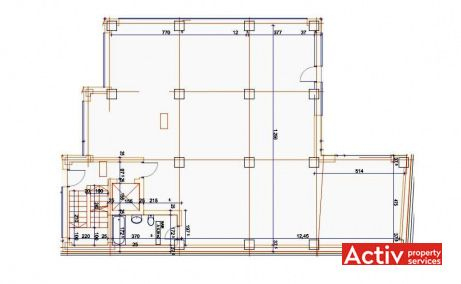 Vasile Milea 2P birouri de inchiriat Bucuresti zona de vest plan etaj curent