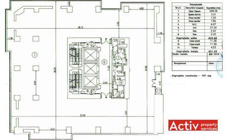 Platinum Center bioruri de inchiriat Bucuresti central plan etaj curent