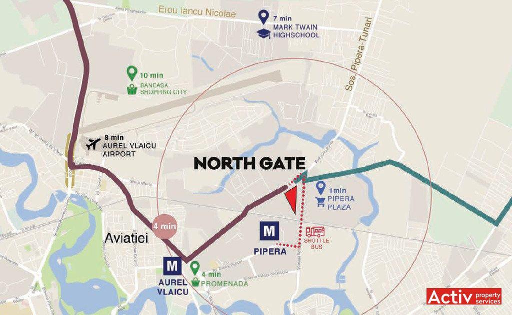 Inchiriere Spatii De Birouri Zona Pipera North Gate