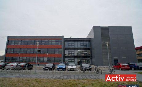 Optica Business Park închiriere birouri Timișoara sud imagine parcarea clădirii