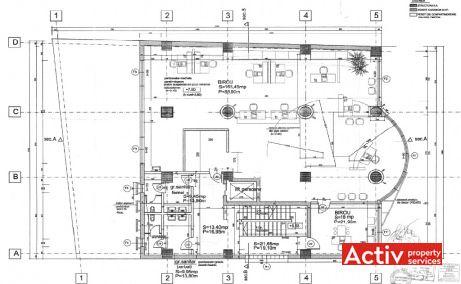 Edelweiss birouri de inchiriat Bucuresti central plan etaj curent