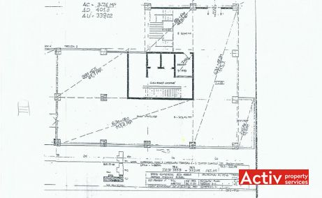 Pantelimon 248-250 birouri de inchiriat Bucuresti zona de est plan etaj curent