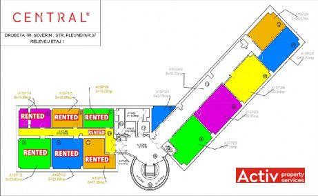 RC Central Drobeta birouri de inchiriat Drobeta Turnu Severin central plan etaj curent