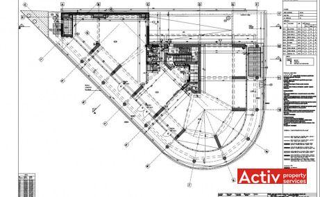Armand Business Center inchiriere spatii de birouri Bucuresti zona centrala plan etaj curent