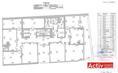Grand Offices birouri de inchiriat Bucuresti nord plan etaj curent