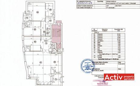 Aviatorilor 27 birouri de inchiriat Bucuresti central plan etaj curent
