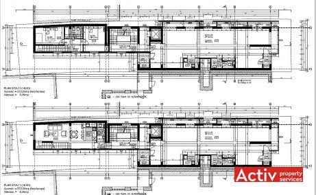 Polona 45 birouri de inchiriat Bucuresti central plan etaj curent