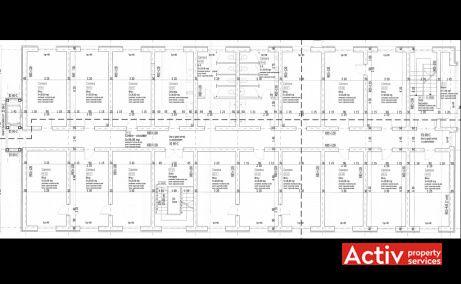 Soveja 111-113 birouri de inchiriat Bucuresti nord plan etaj curent
