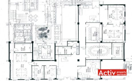 Romcapital Center birouri de inchiriat Timisoara central plan etaj curent