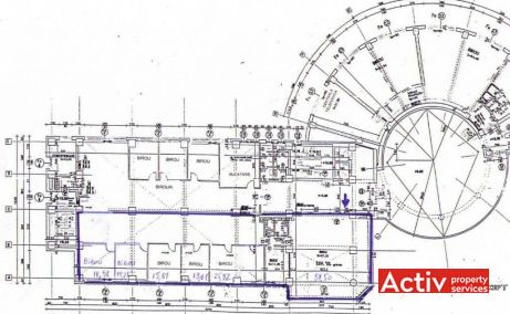 Agrovet Office Building închirieri spații birouri București Aviației plan etaj