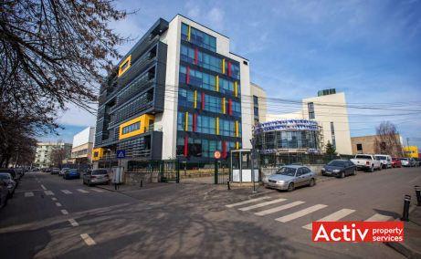 Agrovet Office Building spațiu de birouri nord vedere dinspre intersecția străzilor Siriului cu Nicolae Coculescu