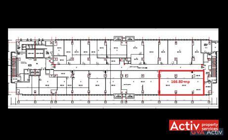 Electroaparataj Office Building cladire de vanzare Bucuresti zona de est plan etaj