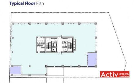 Matei Millo Office birouri de inchiriat Bucuresti zona centrala plan etaj curent