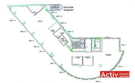 Cascade Offices birouri de inchiriat Bucuresti central plan etaj curent