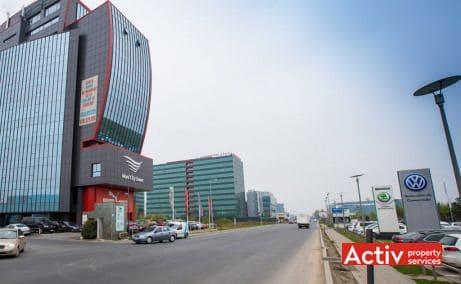 Hyperion Towers birouri de inchiriat Bucuresti nord poza cale de acces