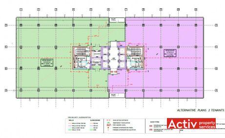 Hyperion Towers birouri de inchiriat Bucuresti nord plan