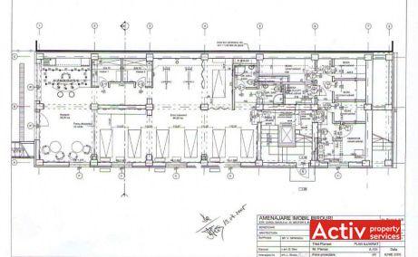 Carol Davila 40 birouri de inchiriat Bucuresti central plan etaj curent