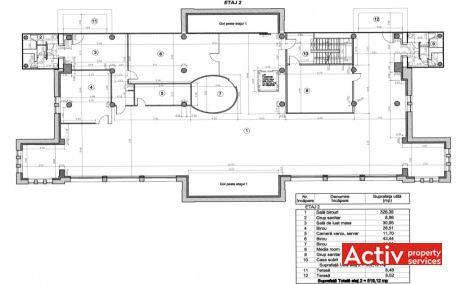 The Ark inchiriere spatii de birouri Bucuresti central plan etaj curent