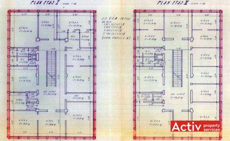 Cladirea C.I.A birouri de inchiriat Cluj-Napoca sud plan etaj curent