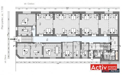 Deva 1 cladire de vanzare Cluj-Napoca zona centrala plan parter