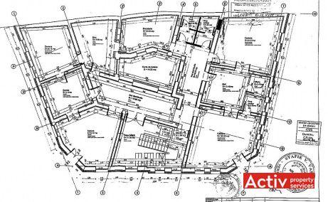 Serban Voda 126 birouri de inchiriat Bucuresti central plan etaj curent