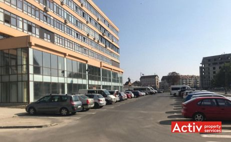 Ferdinand 4 inchiriere spatii de birouri Sibiu zona centrala poza parcare
