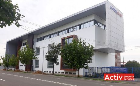 Waterhouse Business Center spatii de birouri de inchiriat Arad zona industriala de vest poza laterala cladire