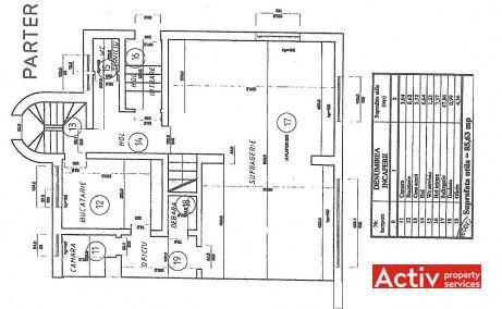 Primaverii 4 villa istorica de inchiriat Bucuresti zona Primaverii metrou Aviatorilor plan parter