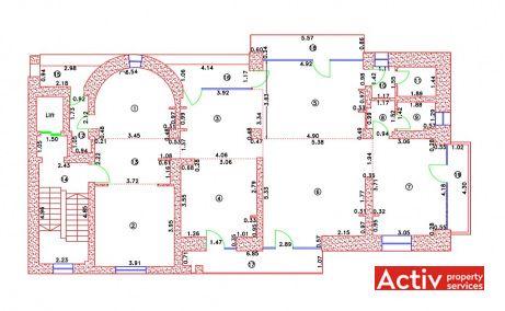 Putul lui Zamfir 32-34 spatii birouri  Bucuresti zona de nord plan