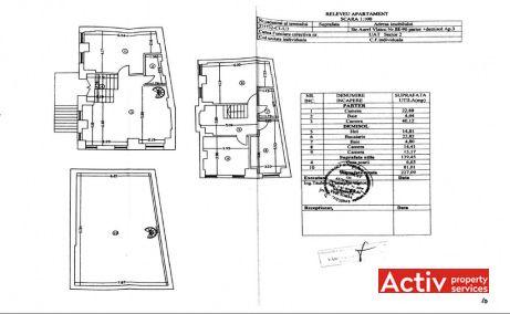 Aurel Vlaicu 88-90 vila de vanzare Bucuresti zona centrala plan