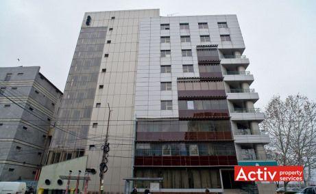 Asirom Center închiriere birouri Timișoara piața Consiliului Europei vederere fațadă