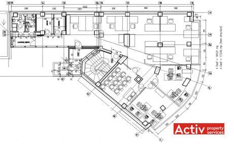 Costache Negri 2 birouri de inchiriat Bucuresti central la metrou Eroilor plan