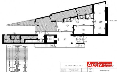Herastrau Office Building birouri de inchiriat in Bucuresti zona Herastrau plan