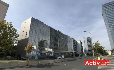 IPA cladire de birouri cu spatii de birouri de inchiriat in Bucuresti zona de nord Barbu Vacarescu imagine fatada cladire