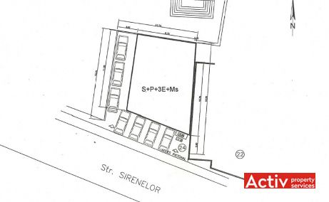 Sirenelor 24 inchiriere spatii de birouri Bucuresti central plan