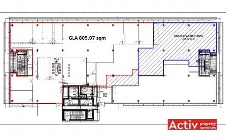 Băneasa Business & Technology Park închiriere spații de birouri zona nord imagine plan etaj 1