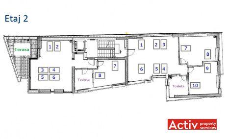 Ernest Brosteanu 31 cladire de birouri de inchiriat Bucuresti central plan