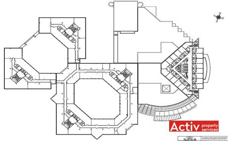 World Trade Center spatii de birouri de inchiriat Bucuresti zona de nord Piata Montreal plan