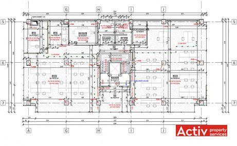 Ocna Sibiului 46-48 inchiriere spatii de birouri Bucuresti nord zona Aerogarii plan
