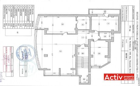 Nordului 102G spatii birouri de inchiriat Bucuresti Soseaua Nordului plan