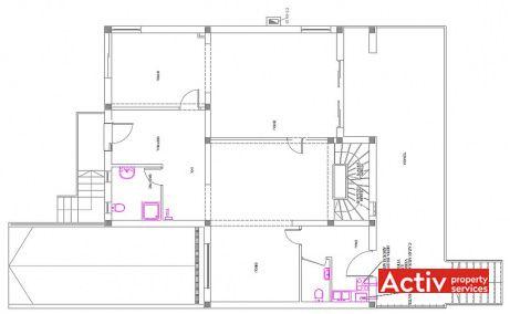 Ion Miron 25 spatii de birouri Timisoara nord poza plan etaj