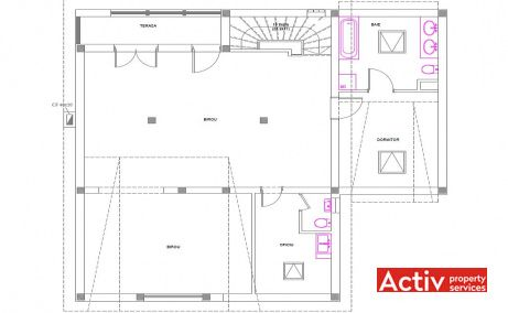 Ion Miron 25 inchiriere spatii de birouri Timisoara nord imagine plan etaj