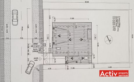 Ion Miron 25 inchiriere spatii de birouri Timisoara nord poza plan etaj
