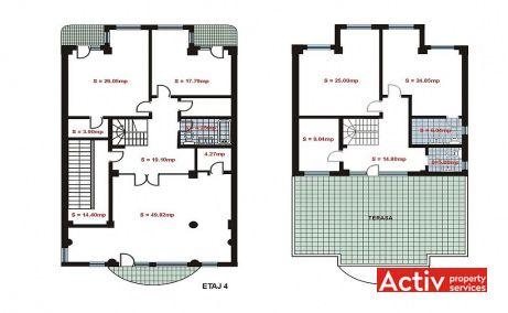 Dumitru Florescu 17 inchiriere birouri Bucuresti nord imagine plan etaj
