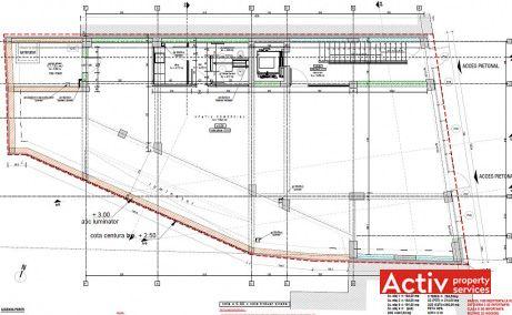 Dorobanti 149 spatii de birouri de inchiriat Bucuresti central imagine plan etaj