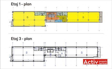 Silver Business Center birouri de inchiriat Cluj central imagine plan