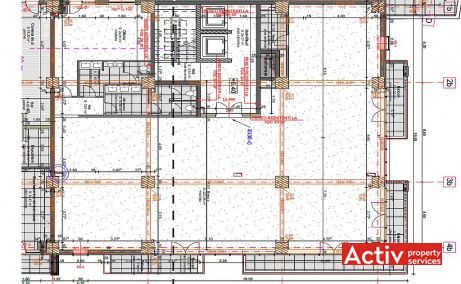 East Side Offices birouri de inchiriat Bucuresti nord plan etaj